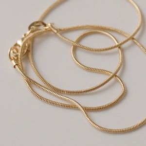 Thin Snake Chain | 18k Gold Filled